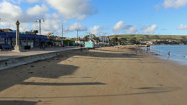 Swanage Beach at low tide