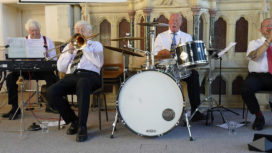 Band playing at Swanage Jazz festival