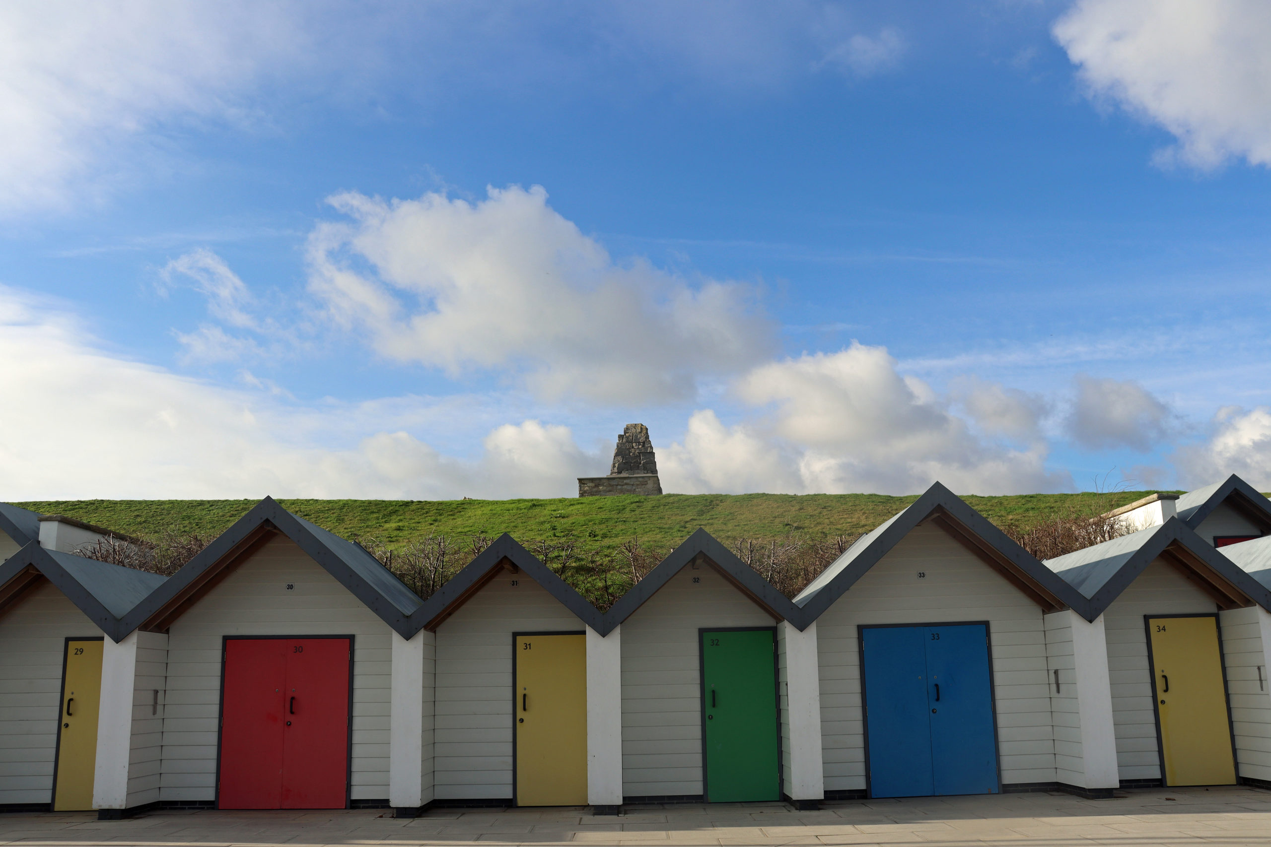 Beach huts along Shore Road