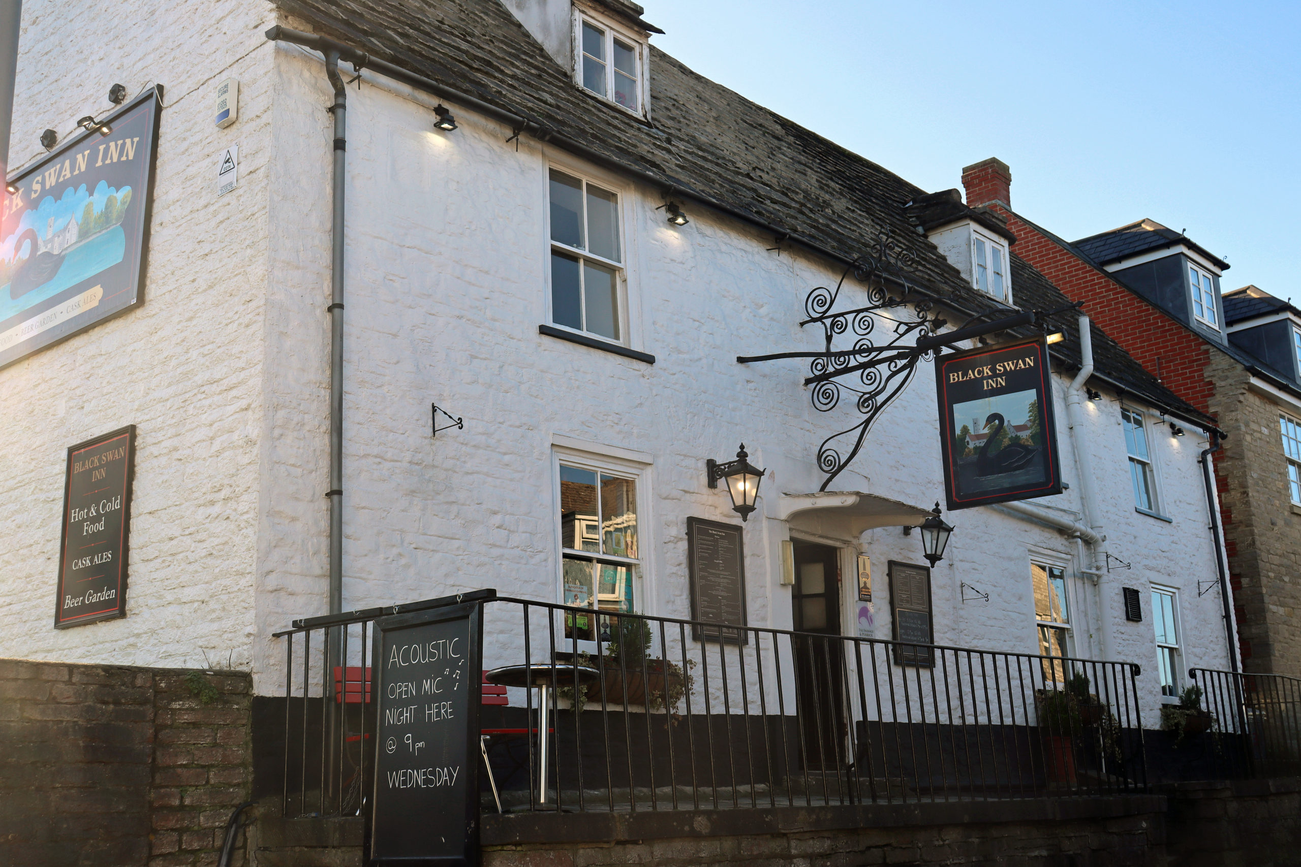 Outside The Black Swan pub