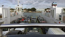 Cars on the Sandbanks Ferry