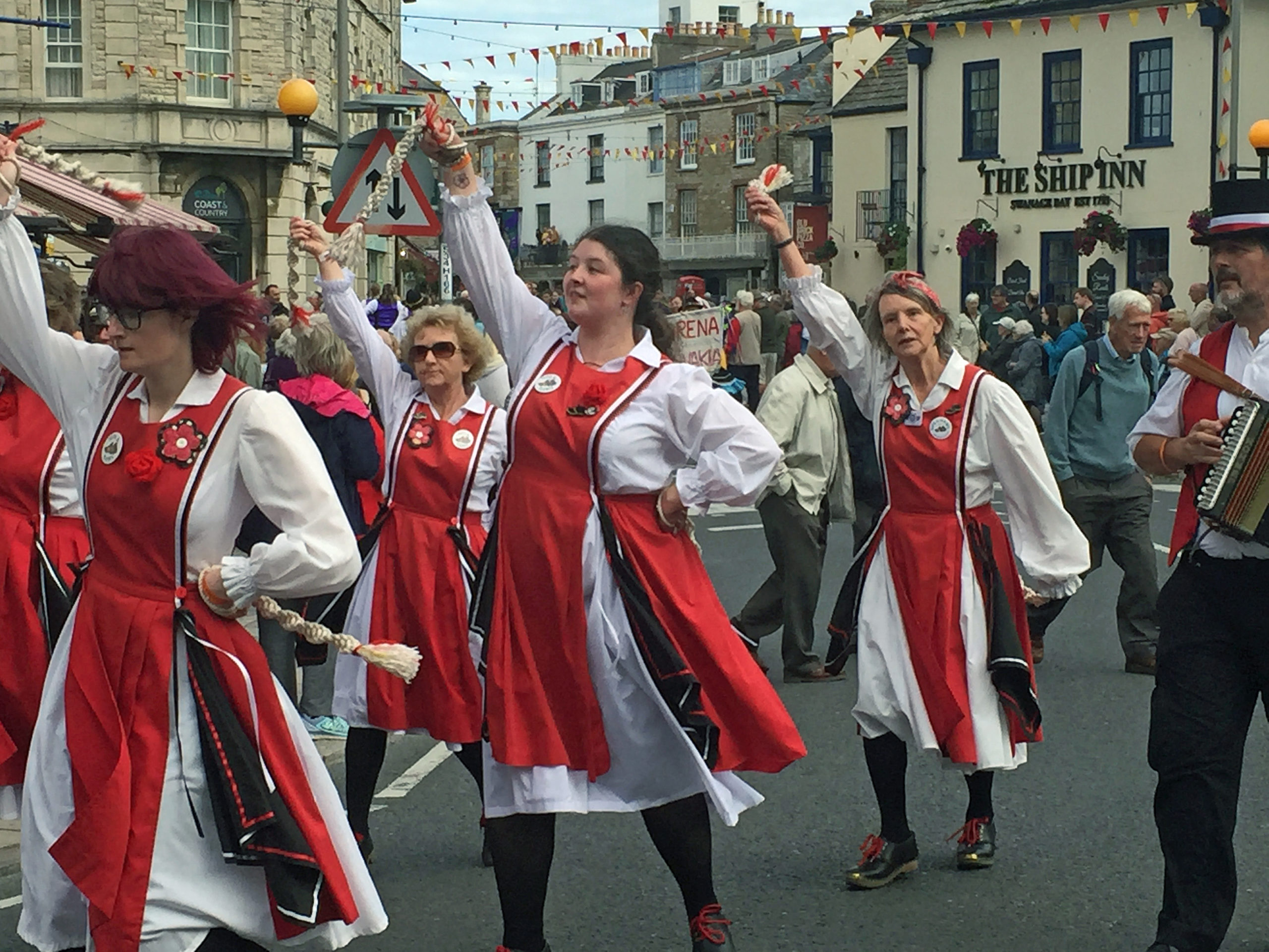 Folk dancers at Swanage Folk festival