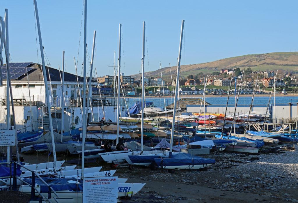 The Swanage Sailing Club beach