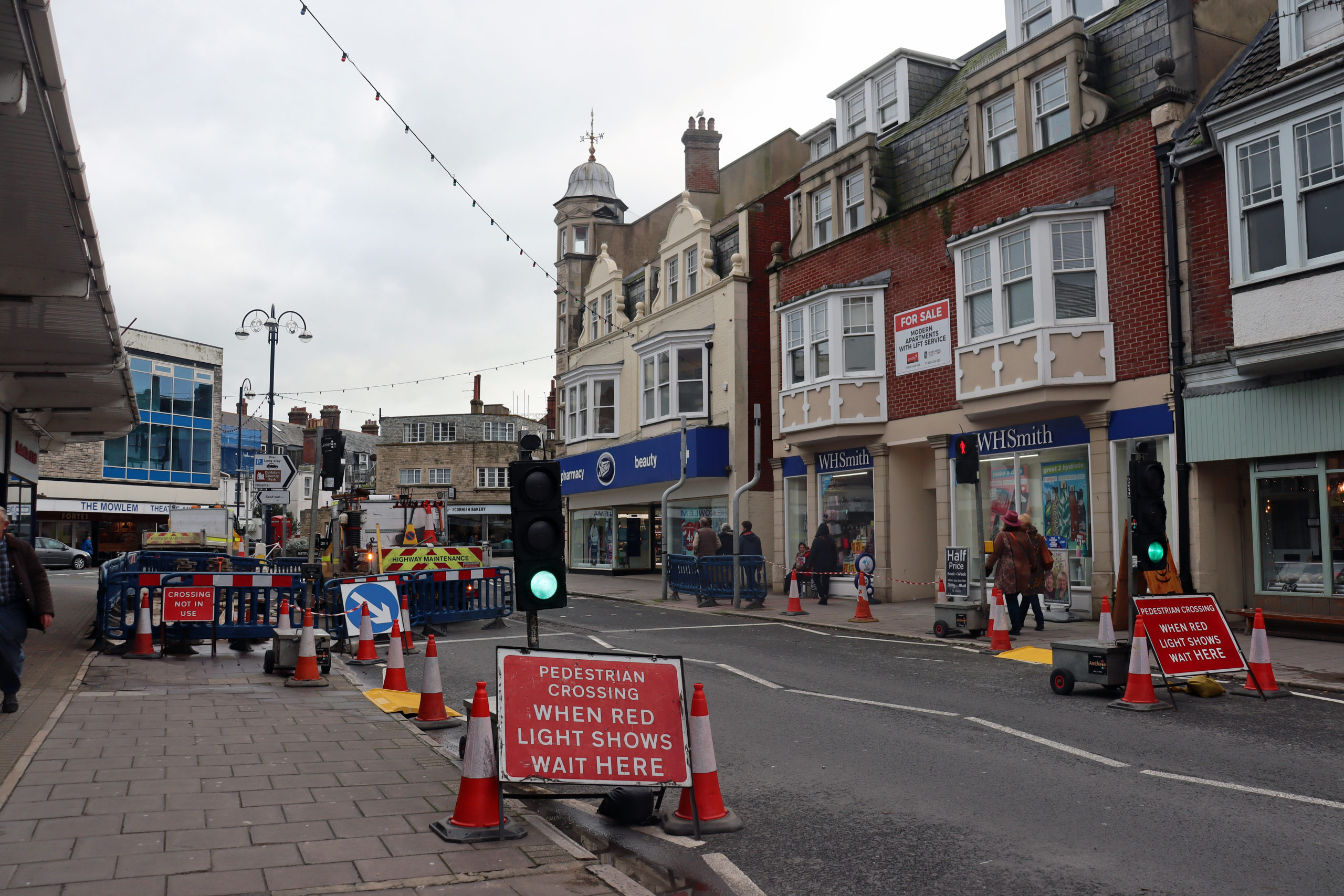 Roadworks in Station Road
