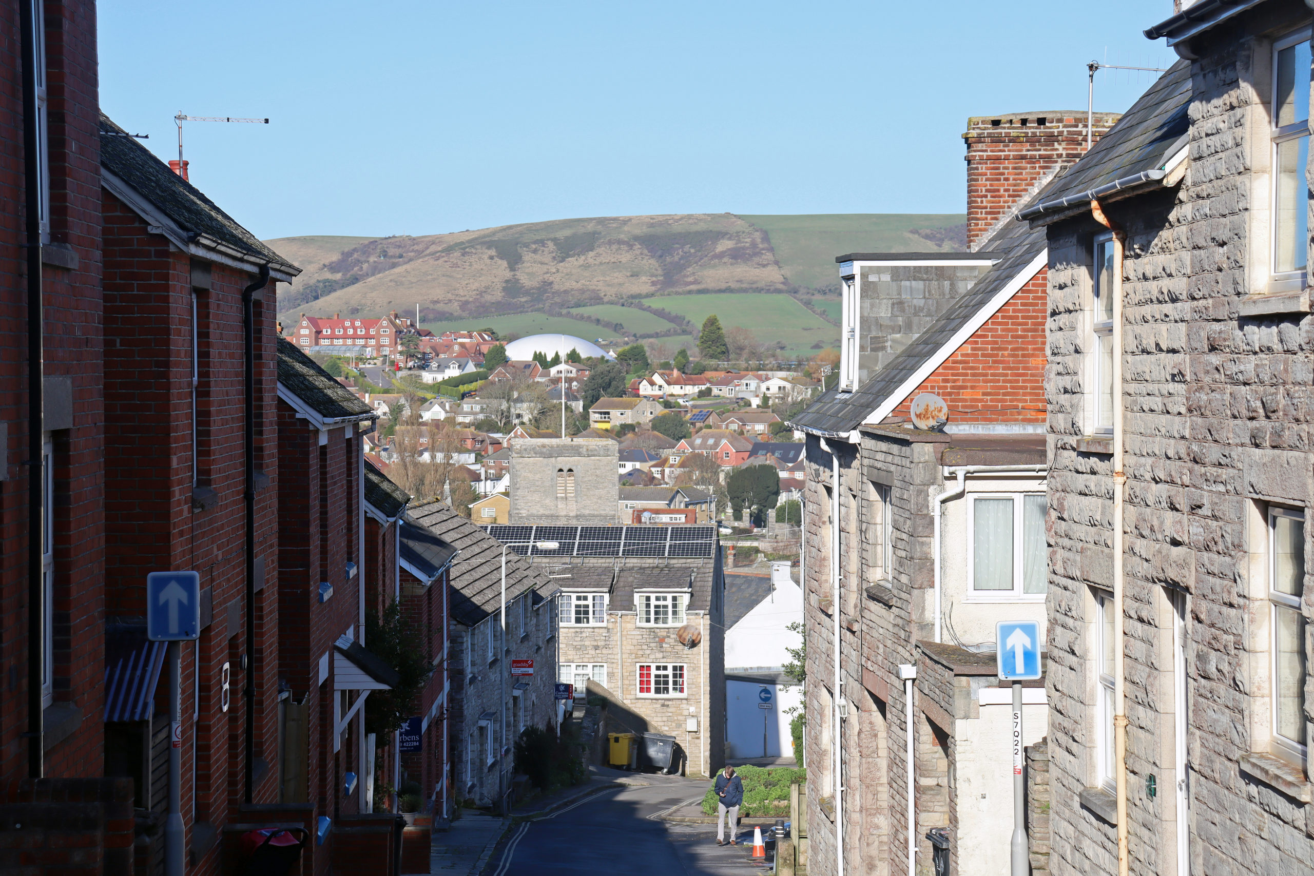 Street view towards Swanage town centre