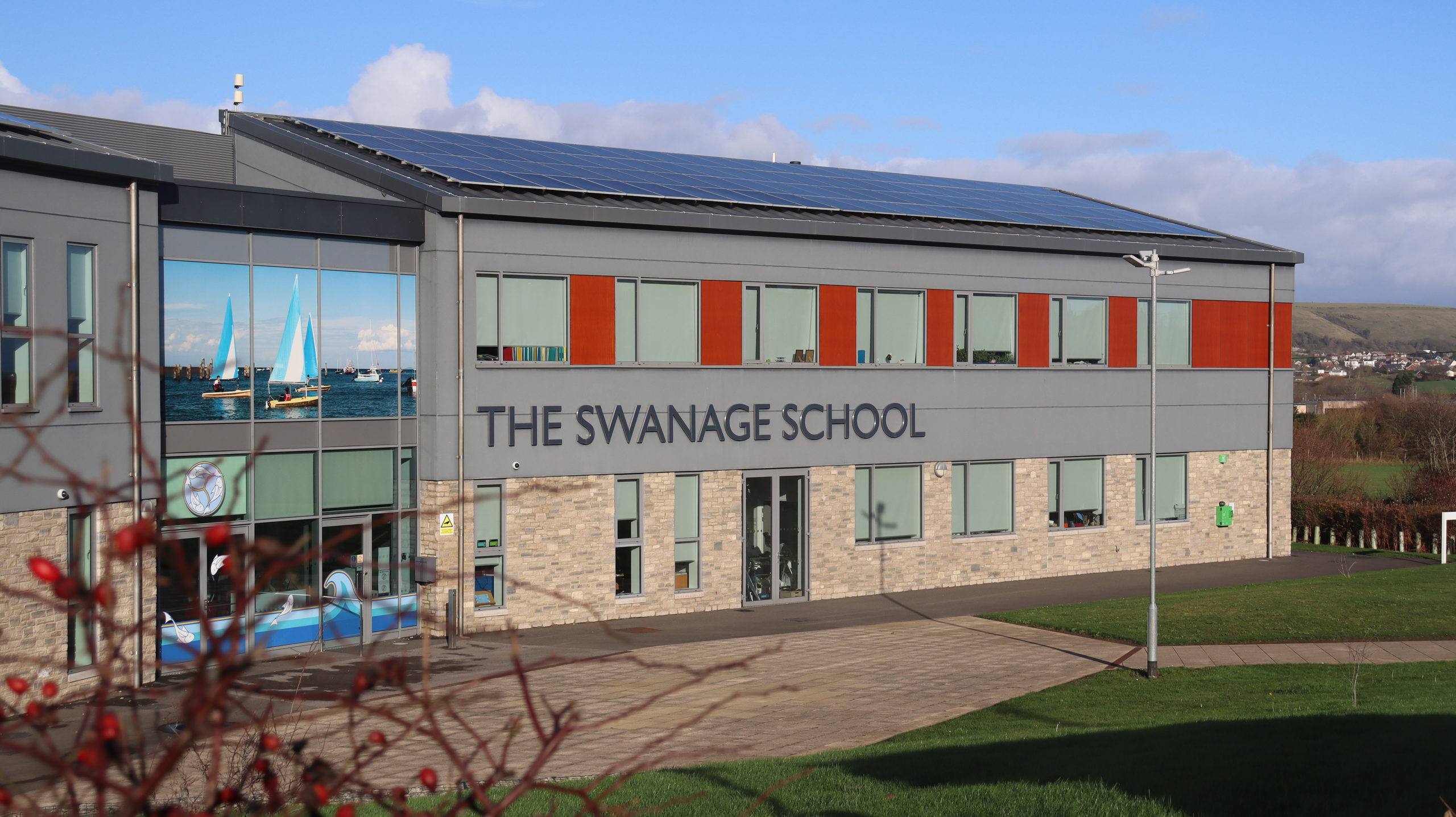 The exterior of The Swanage School