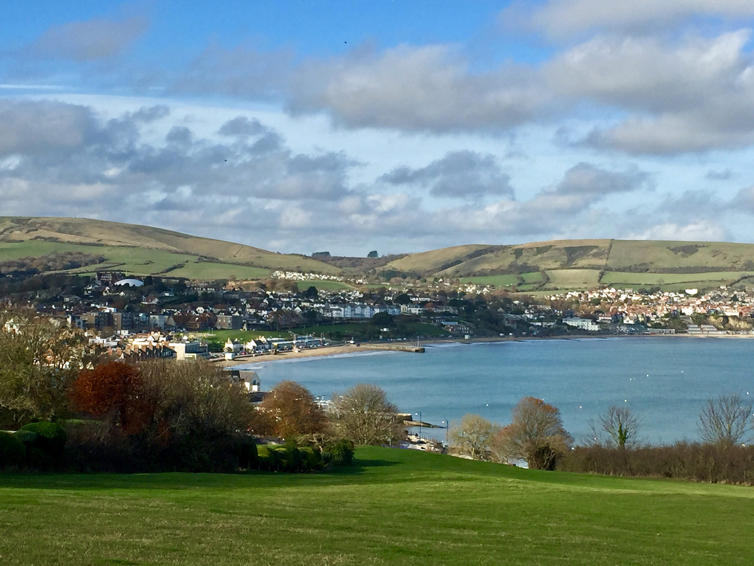 Swanage Bay viewed from the Downs