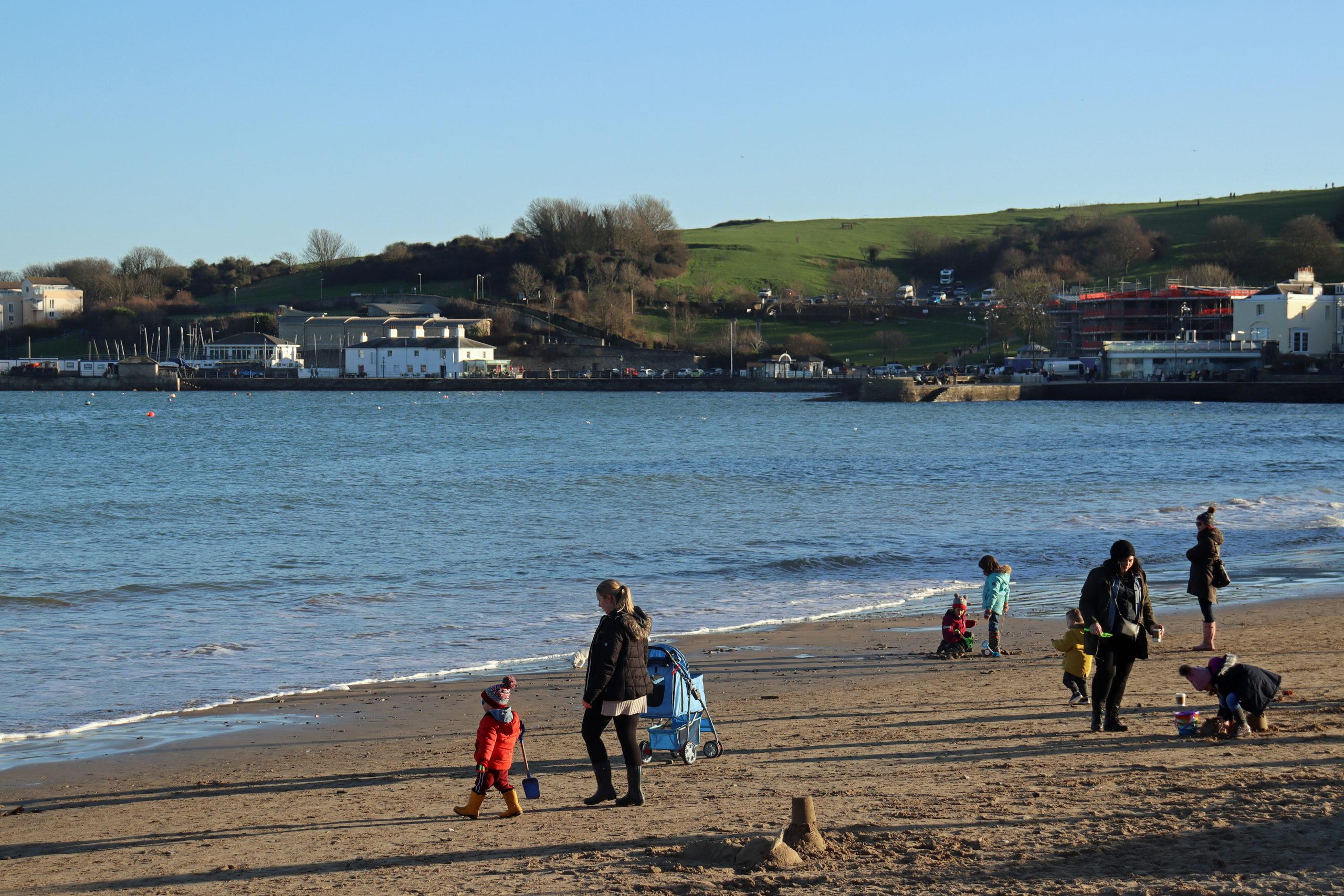 Marine Villas in distance from beach