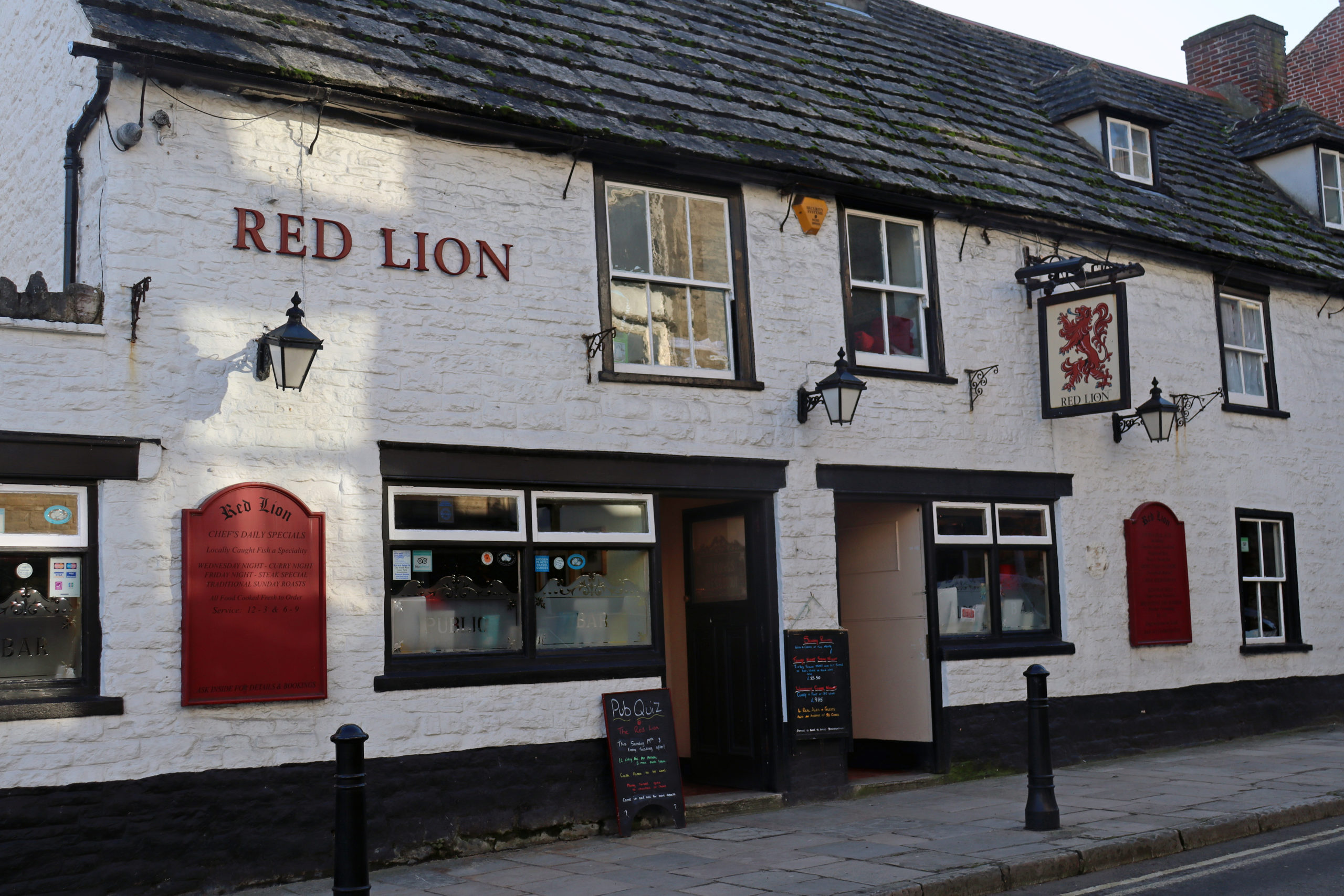 Exterior of the Red Lion pub