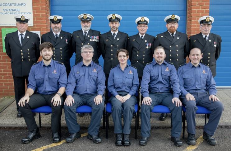 Swanage Coastguard team