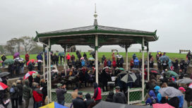 Opening ceremony of Swanage Bandstand
