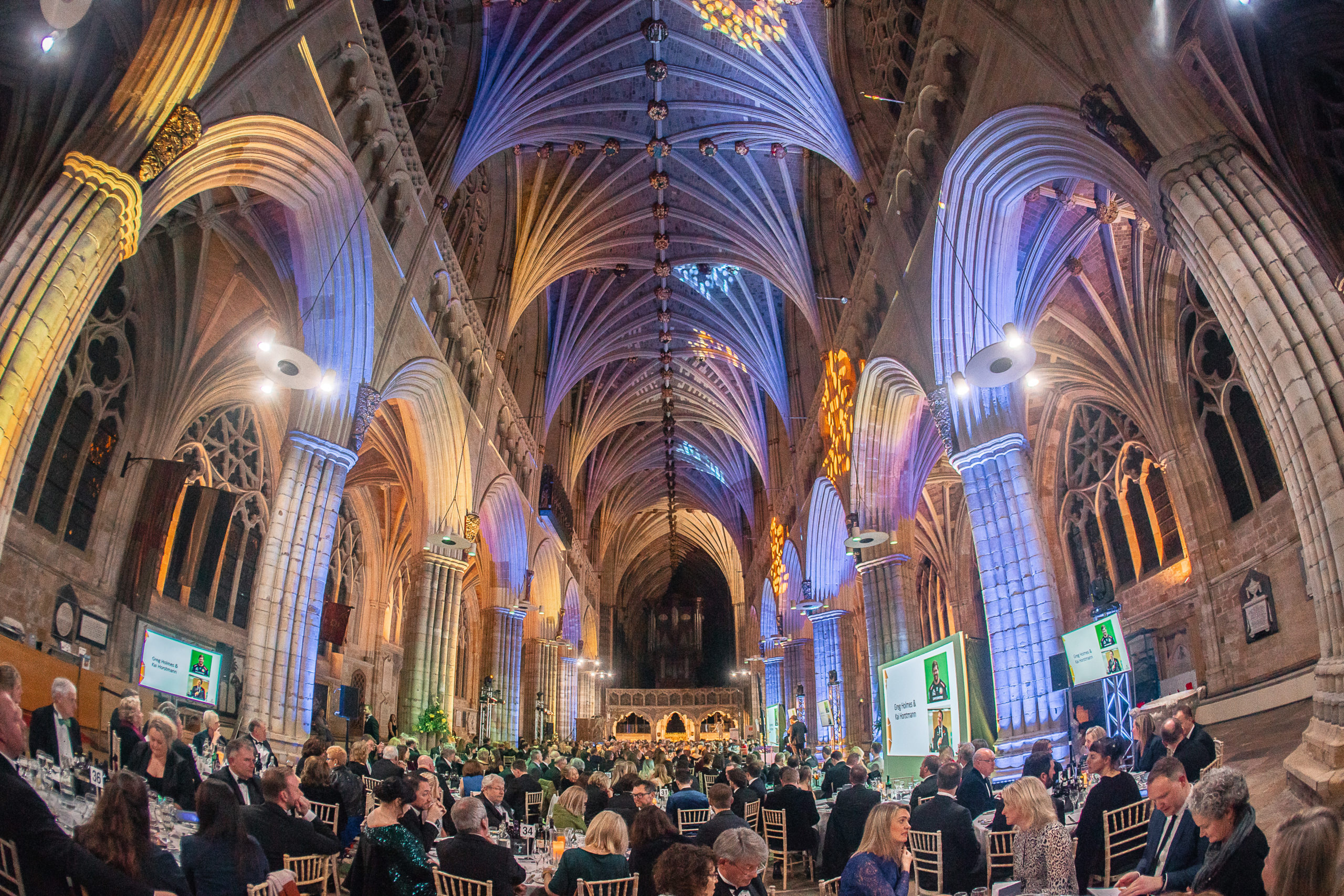 Inside of Exeter Cathedral for tourism awards