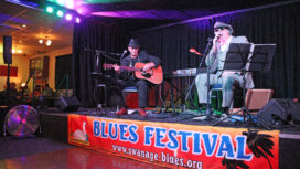 Hugh Budden and Andy Stone at the Blues Festival March 2020