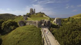 Exterior of Corfe Castle