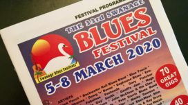 Front cover of Swanage Blues Festival programme March 2020