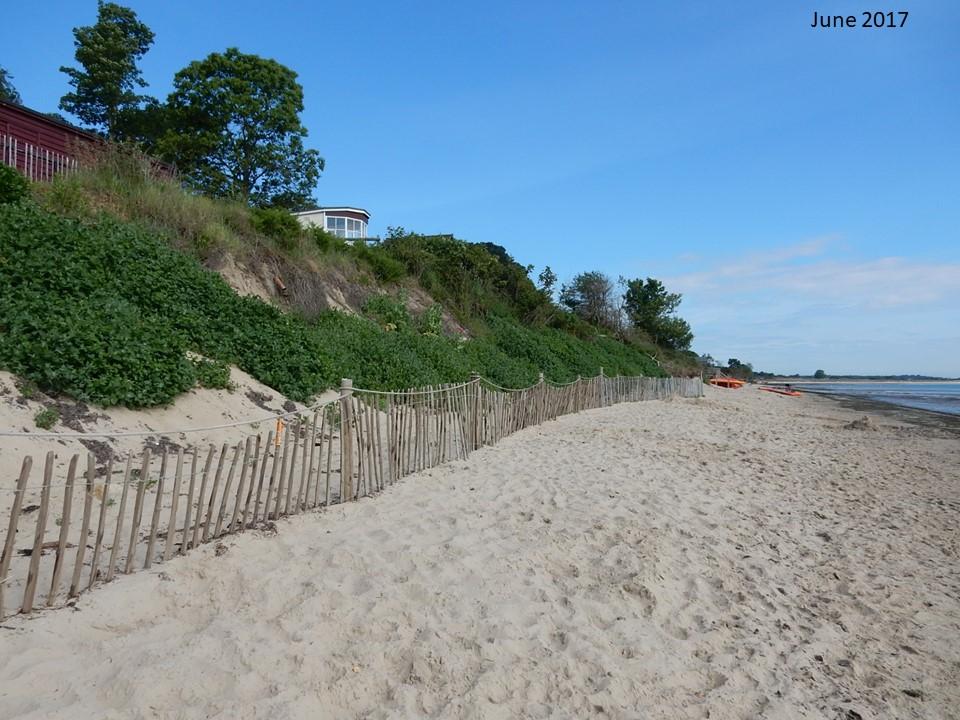 Studland beach erosion June 2017