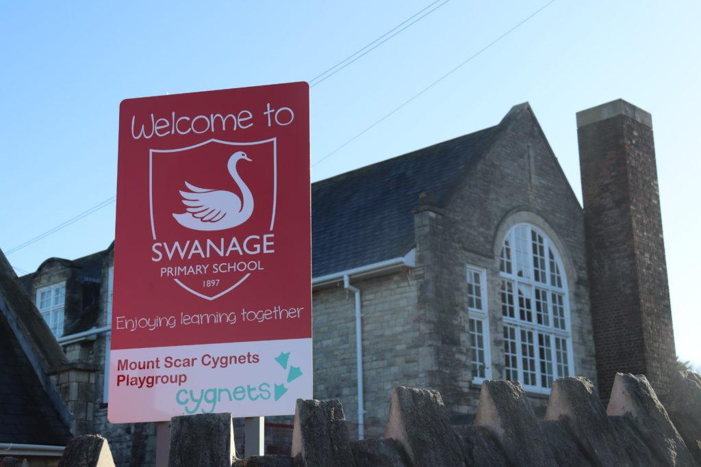 Exterior of Swanage Primary School
