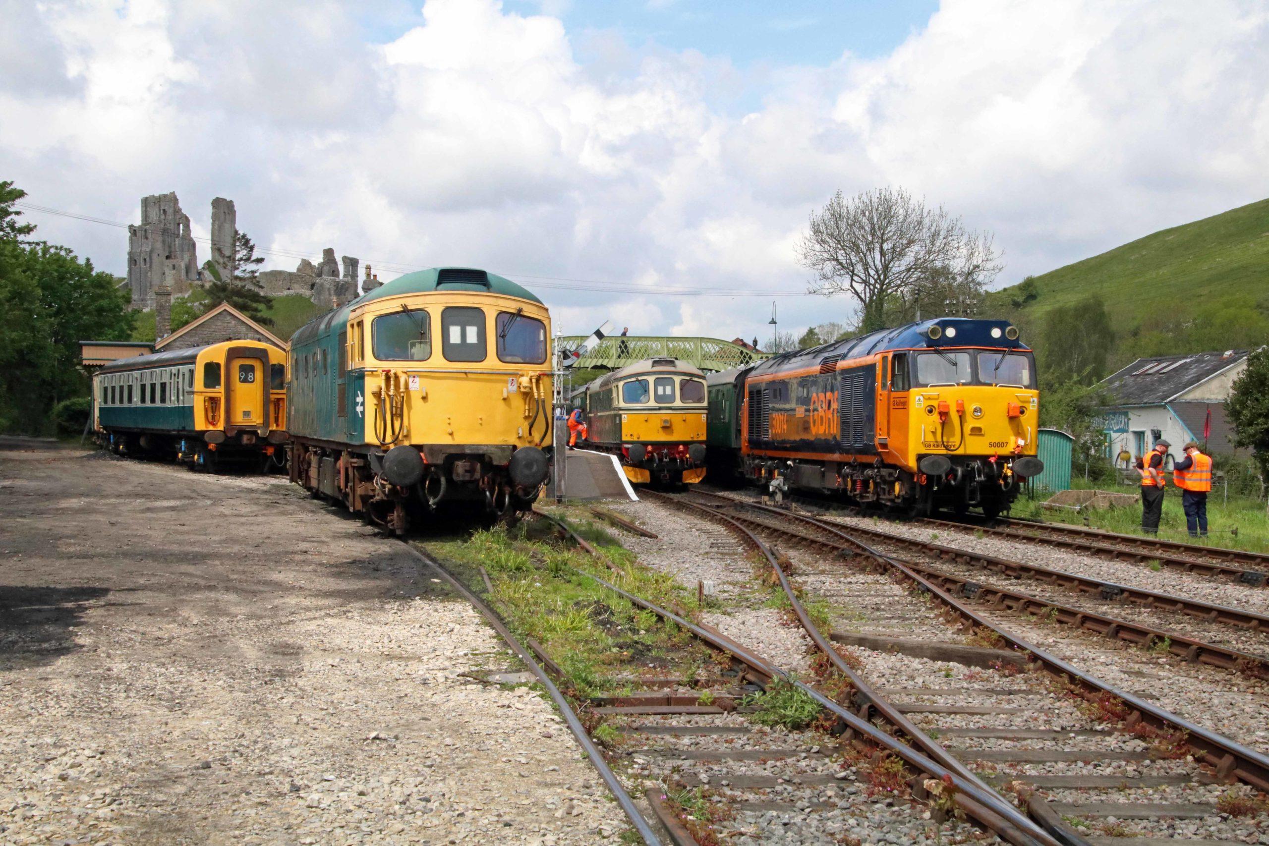 Diesel locos at Swanage Railway's Diesel Gala