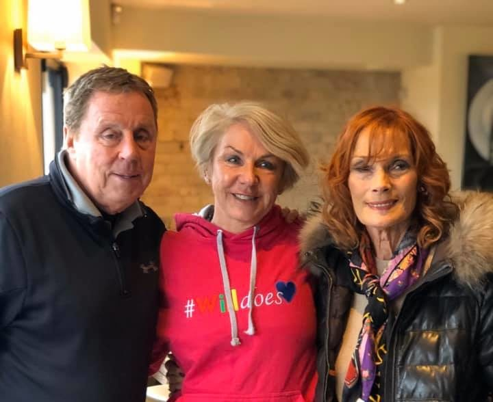 Sandra and Harry Rednapp with #Willdoes founder,Lesley Paddy