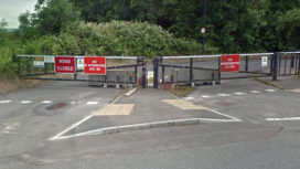 The gates at Creekmoor park and ride