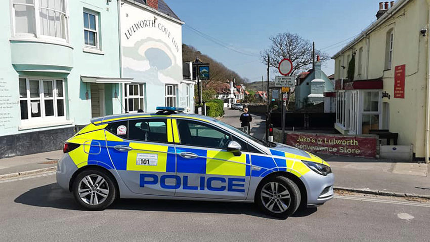 Police car at Lulworth