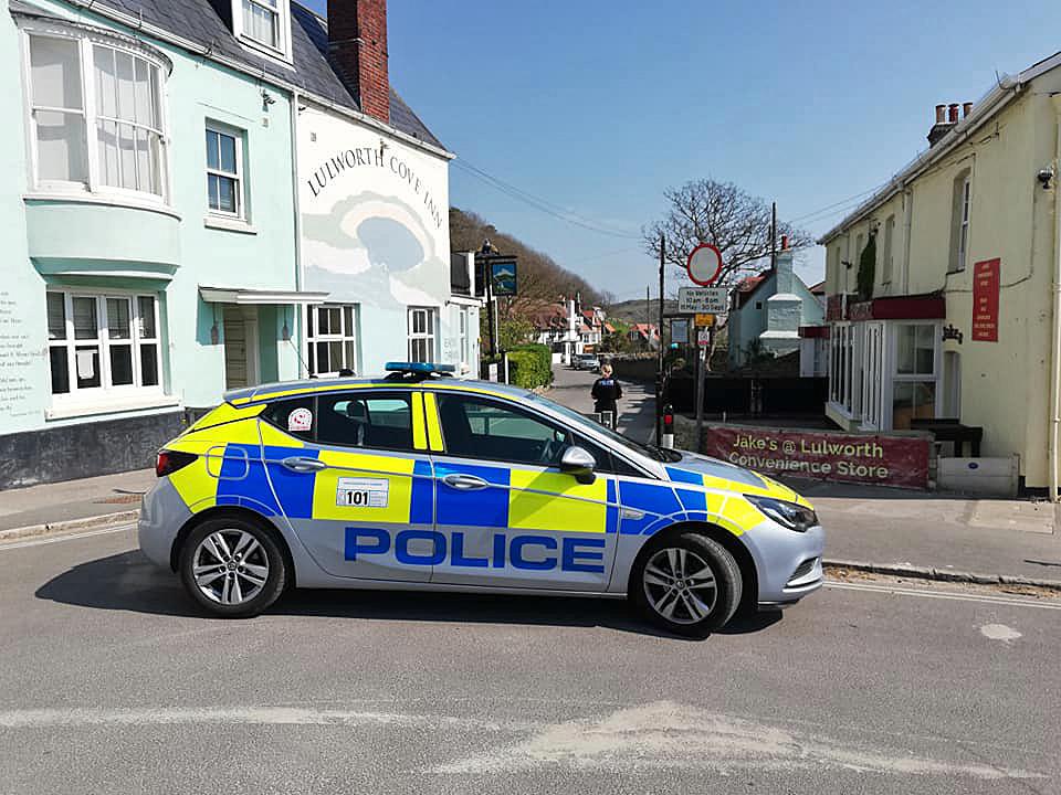 Police car at Lulworth
