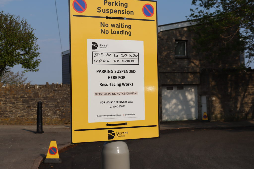 Road resurfacing notice