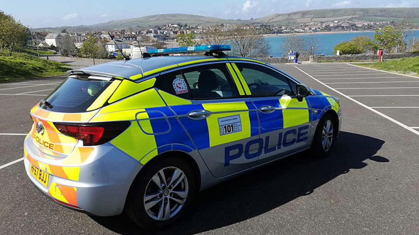 Police car in Swanage