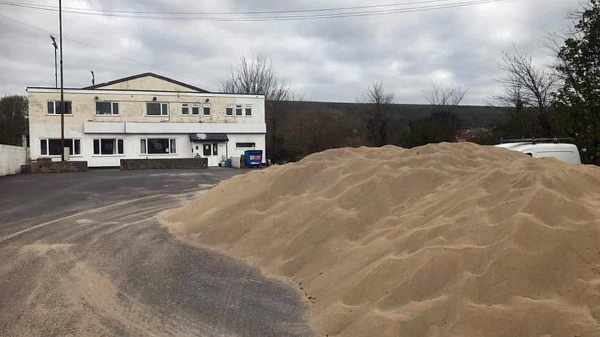 Sand at football club