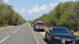 Parked cars in Ferry Road in Studland