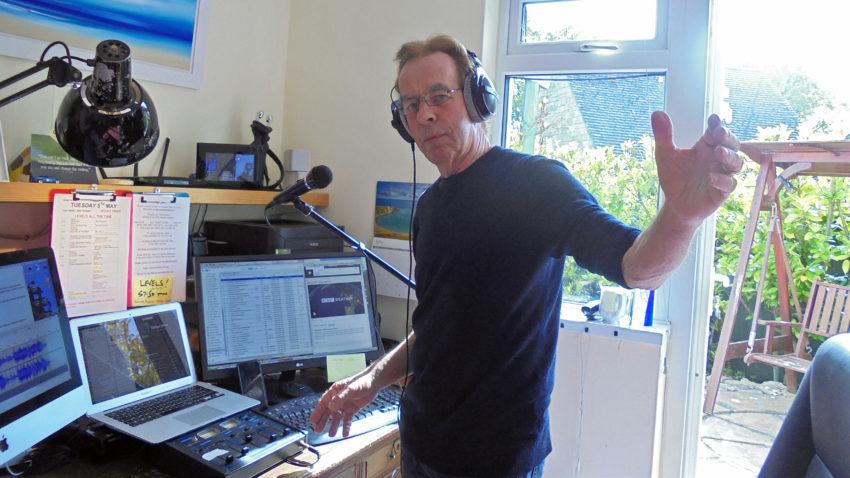 David Hollister in his home studio