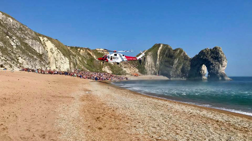 Rescue Helicopter at Durdle Door