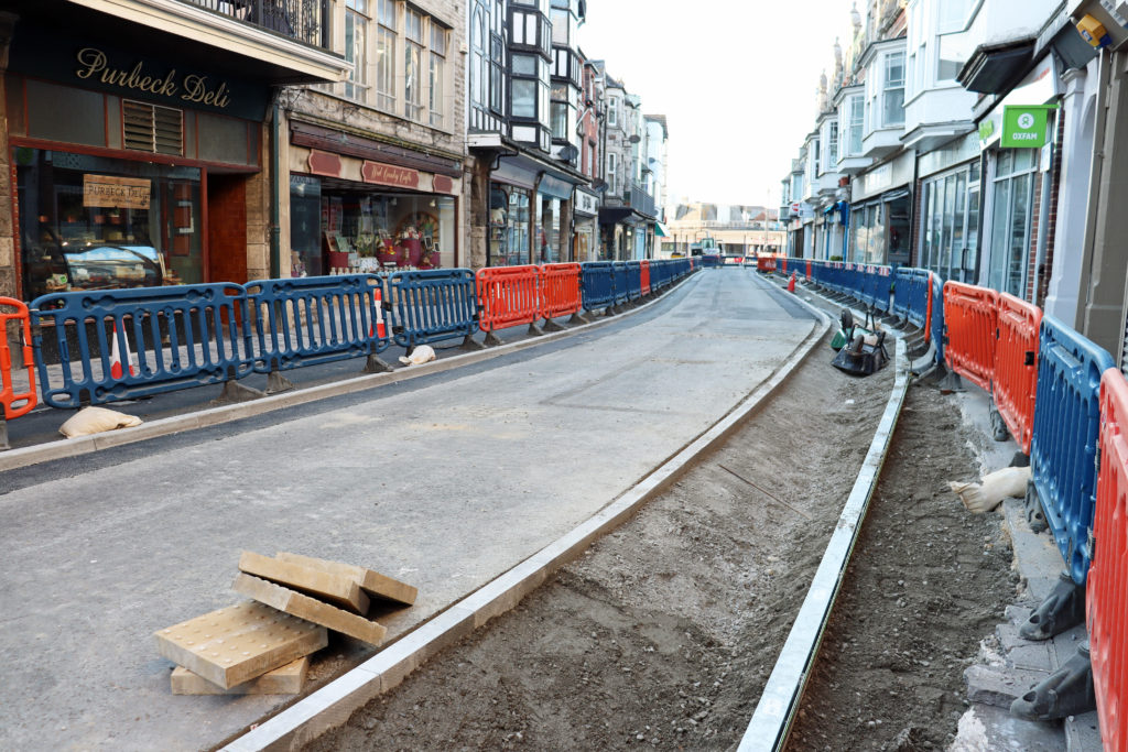 Pavement widening in Institute Road