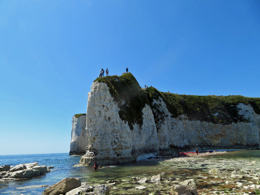 Visitors at OldHarry Rocks