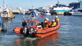 Poole Lifeboat Crew in Poole Harbour