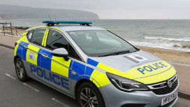 Purbeck Police car at Swanage seafront