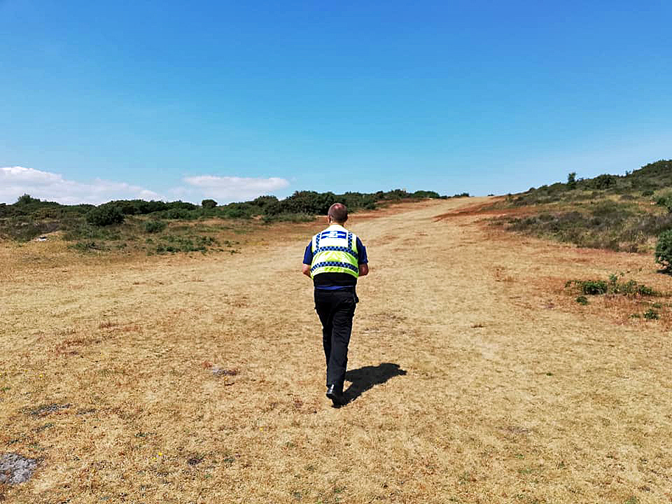Purbeck Police on patrol to prevent heath fires