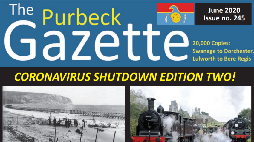 Front page of the The Purbeck Gazette