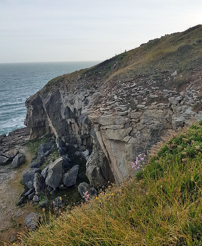The cliff at Tilly Whim