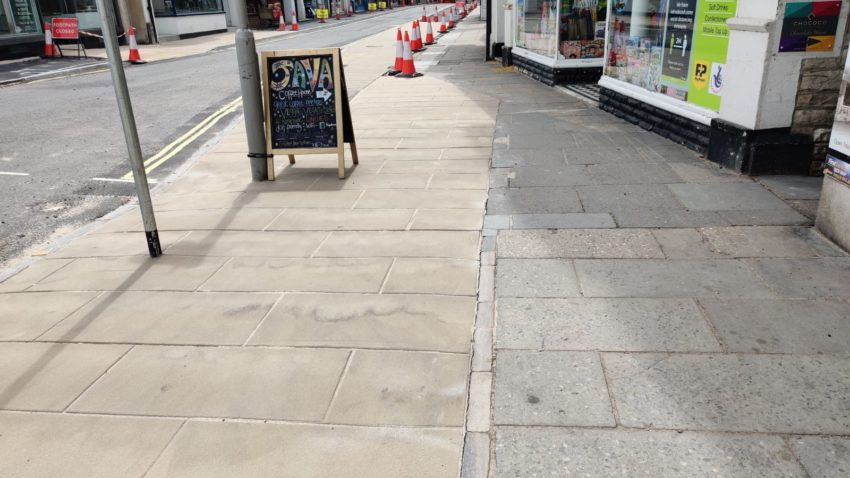 New pavement in Institute road