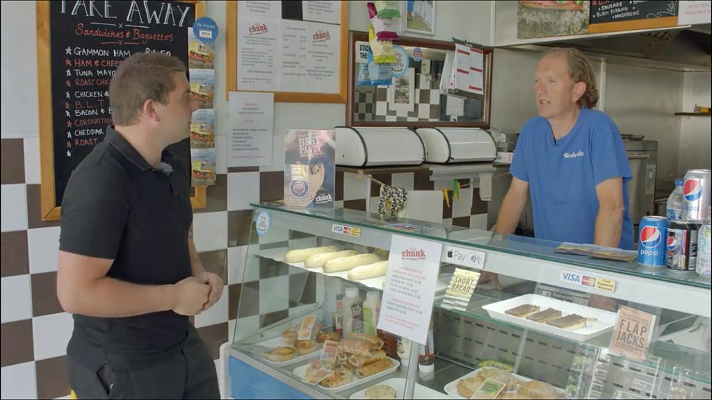 Josh Voch interviews the owner of Teabreaks, John Andrews