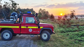 The Unimog at Wareham Forest fire