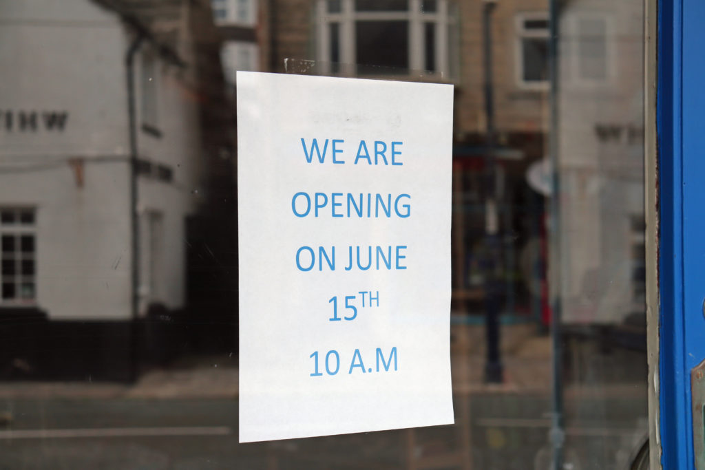 Shop opening sign