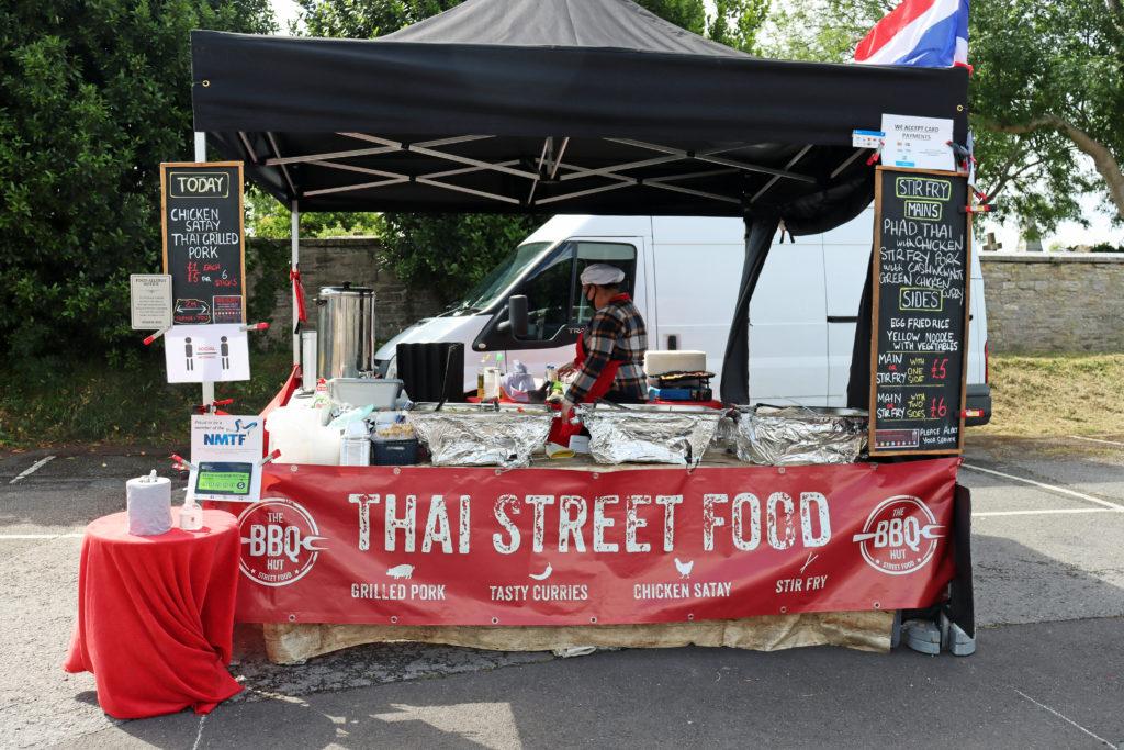 Thai Street Food stall at Swanage Market