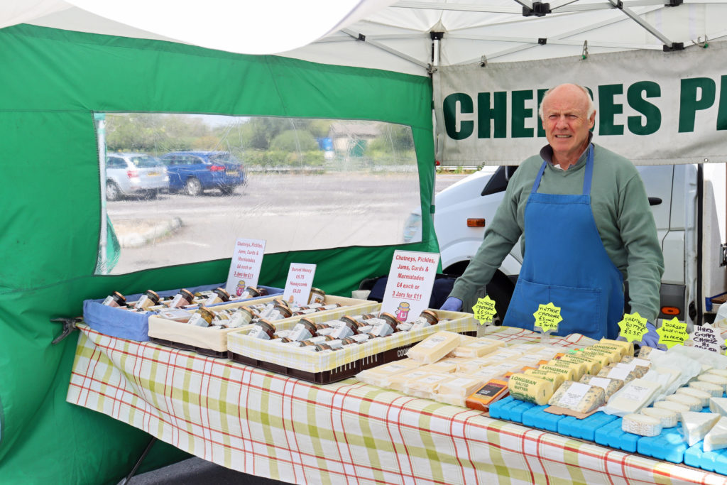 The cheese stall at Swanage Market