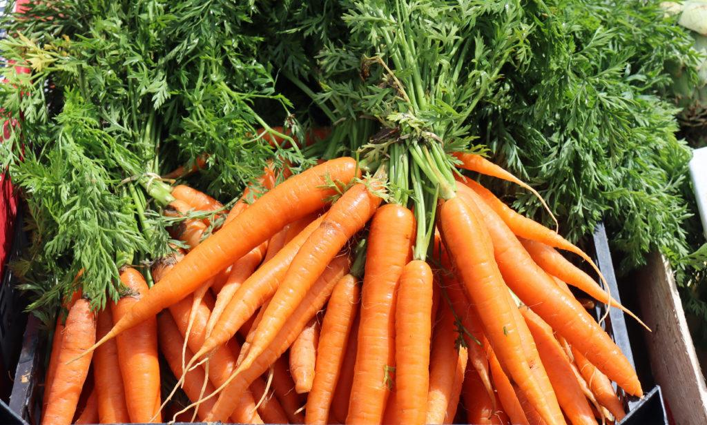 Carrots at Swanage Market