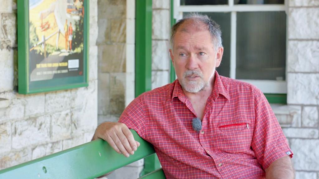 Swanage Railway's chairman Gavin Johns