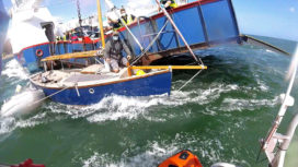 Yacht in collision with the Sandbanks Ferry