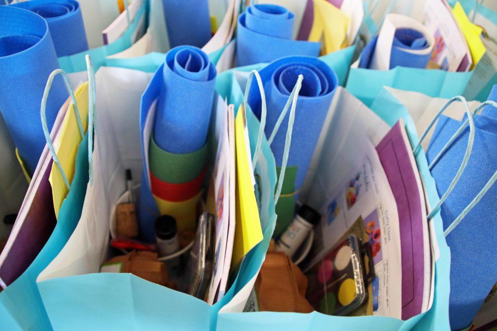 Art bags for school children