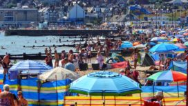 Busy Swanage Beach
